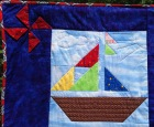 Bright and Beautiful Sailboats- left side