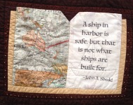Book Lover Quilted Wall Hanging close-up