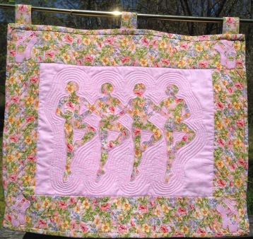 Applique Ballerina Wall Hanging