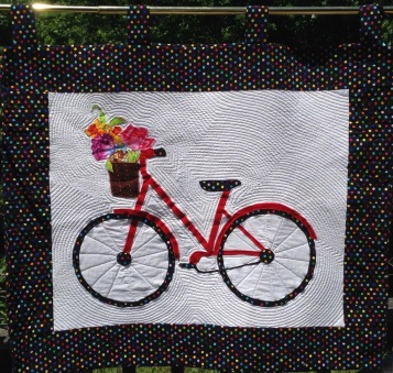 Bicycle Quilted Wall Hanging Front