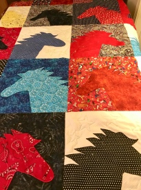 photo of horse quilt